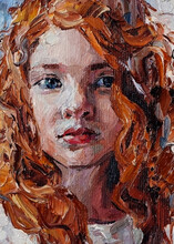Oil Painting Portrait. Young R...