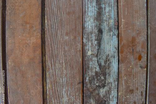 Fototapeta Wooden background of planks arranged perpendicular obraz