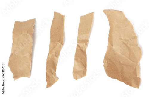 various pieces brown paper strips Canvas-taulu