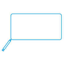 Blue Pencil With Rectangular S...