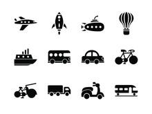 Transportation Icon Set Glyph