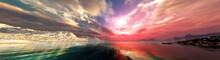 Beautiful Sea Sunset Among The...
