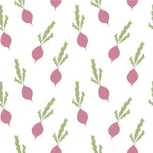 Seamless Pattern With Radish O...