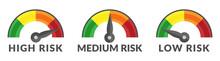 Risk Gauge Scale Measure High,...