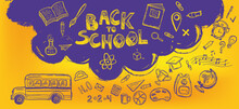 Back To School. Hand Drawn Illustration.