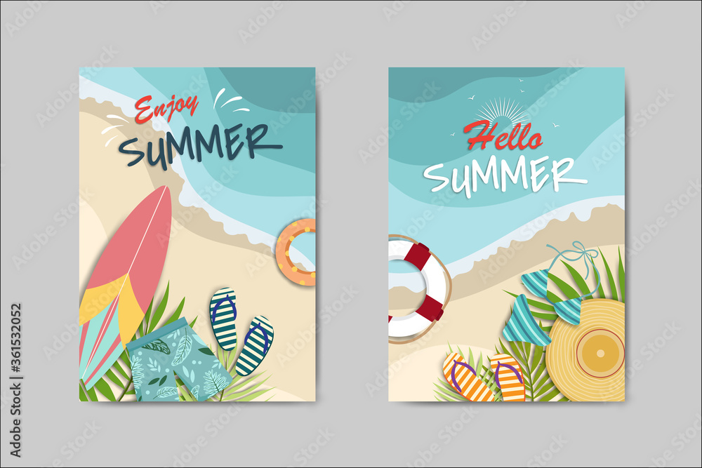 Fototapeta Beautiful Summer Card lettering card