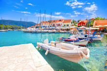 Fiskardo Village And Harbor On...