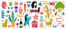 Vector Set With People, Animal...