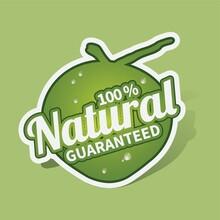Natural Guaranteed Sticker