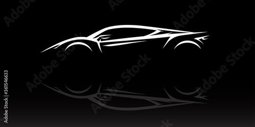 Concept Supercar Silhouette Fototapete
