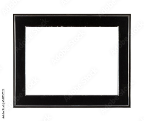 Fotomural Black thick square frame for painting or picture isolated on a white background