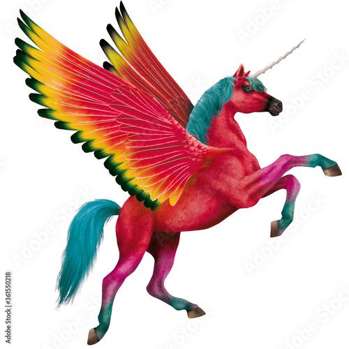 cheval rouge, coloré, licorne, en vol, ailes, animal, blanc, isolé, illustration, silhouette, étalon, nature, galop, sauvage, ferme, fantaisie, mammifère, course, dessin animé, art, chevalin, crin, vo