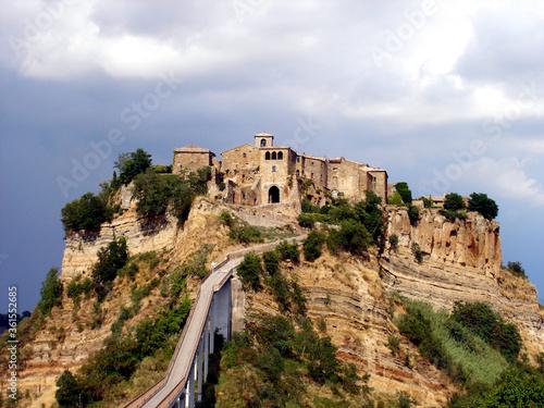 Fototapety, obrazy: Italy, Lazio, Viterbo, view of the village of Civitella d'Agliano