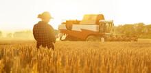 Woman Farmer With Digital Tabl...