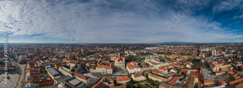 Fotografia Aerial panorama of Szombathely Hungary