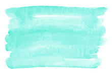 Mint Green Brush Stroke, Smudg...