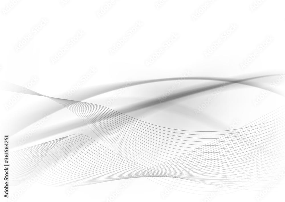 白黒の幾何学模様抽象背景波形素材