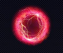 Electric Ball. Lightning Circl...