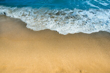 Wave Foam On  Seashore. Seasca...