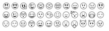 Emoticons Big Set. Emoji Faces...