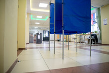 Voting Booths At The Polling S...