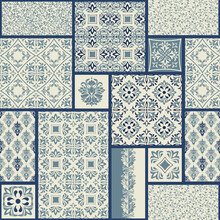 Vintage Seamless Pattern In Po...