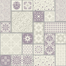 Seamless Patchwork Tile With V...