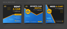 Car Sale And Rental Banner For...