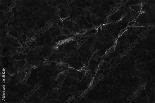 Black grey marble texture background with seamless and high resolution for interior decoration Fototapet