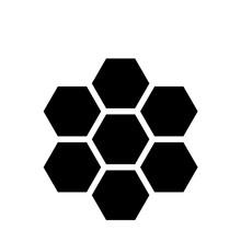 Honeycomb Icon Flat Vector Ill...