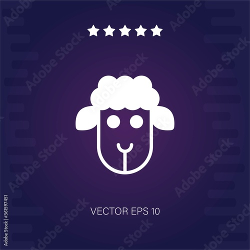 sheep vector icon Fototapete