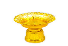 Tray With Pedestal On A White ...