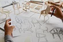 Designer Sketching Drawing Des...
