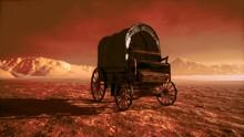 Canvas Covered Retro Wagon In ...