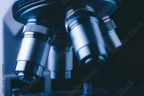 Hight technology microscope at medical science laboratory for technician using i Tapéta, Fotótapéta