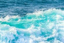 Blue Wave In Tropical Ocean. T...