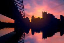 Sunrise In The City Of Pittsburgh