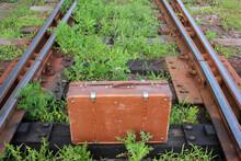 Vintage Suitcase On The Old Ru...