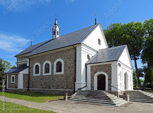 Obraz na plátně wybudowany w 1863 roku murowany kosciol katolicki pod wezwaniem swietego jana ch