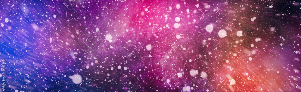 Fototapeta High quality space background. explosion supernova. Bright Star Nebula. Distant galaxy. Abstract image.