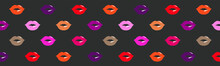 Lip Pattern. Bright Colorful D...