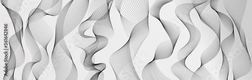 Fotografie, Obraz Abstract wave element for design