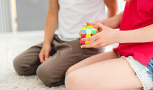Colorful Rubik's Cube In Kids ...