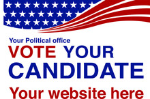 Political Campaign Lawn Sign T...