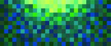 Background Of Green And Yellow Square Tiles