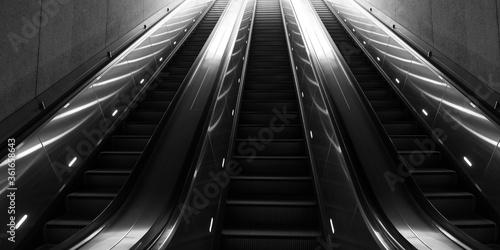 Fotografie, Obraz escalator background