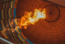 Hot Air Balloon On Fire
