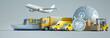 Leinwandbild Motiv International express transportation