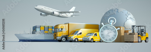 Photo International express transportation