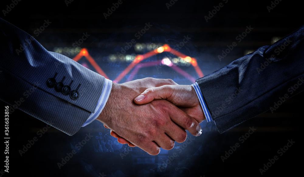 Fototapeta Partnership concept. Image of handshake